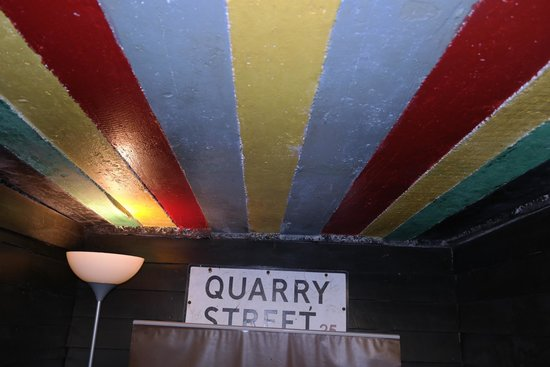 Casbah Coffee Club: Pauls rainbow roof!