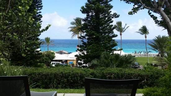 Elbow Beach, Bermuda: The terrace outside our room