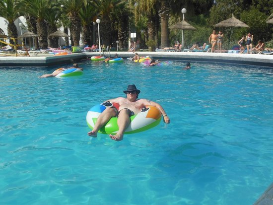 Marhaba Beach Hotel: My husband in the pool