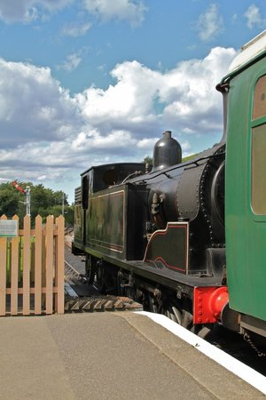 Swanage Railway: Corfe Castle departure