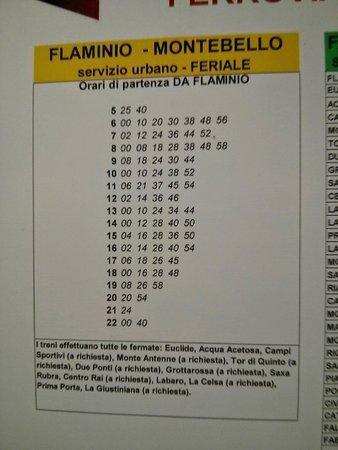Hotel Degli Aranci : Train schedule from Euclide station