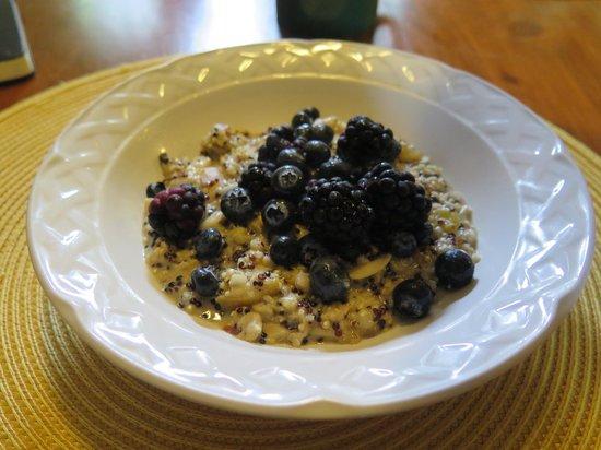 Healing Hands Massage and Ayurvedic Spa : oats and quinoa for brekkie