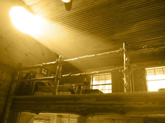 Pappy's Paradise Bed & Breakfast: The Loft at The Cabin, Light Beaming Through