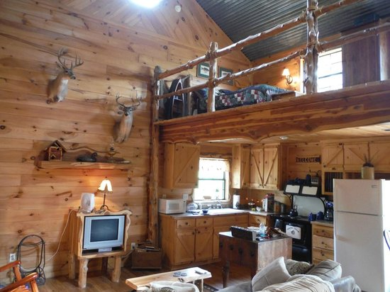 Pappy's Paradise Bed & Breakfast : The Cabin Interior Decor, Beautiful !