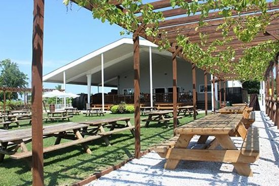 Pelee Island Winery : seating area with bbqs