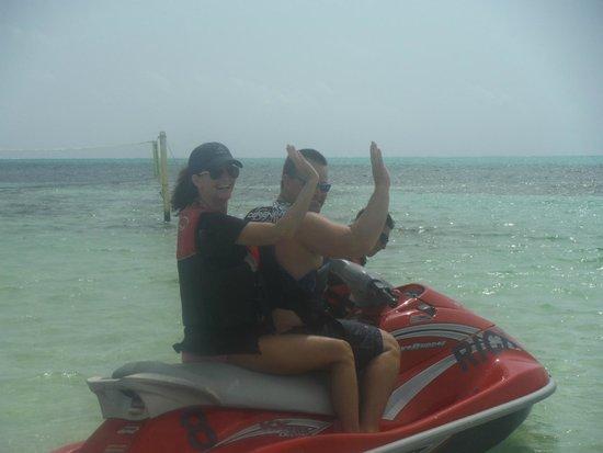 X'tan Ha Resort: Some Jet Ski fun.