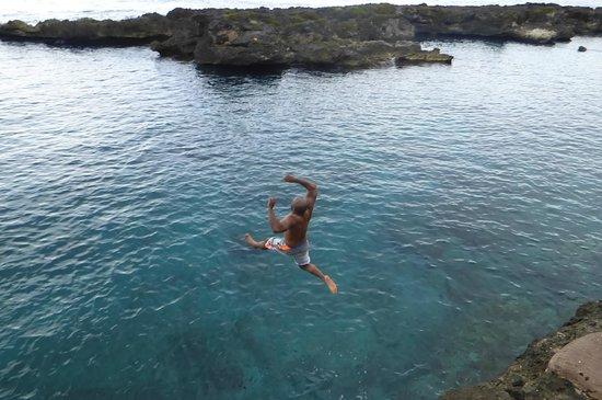 Jewel Dunn's River Beach Resort & Spa, Ocho Rios,Curio Collection by Hilton: 15ft. Cliff Jump!