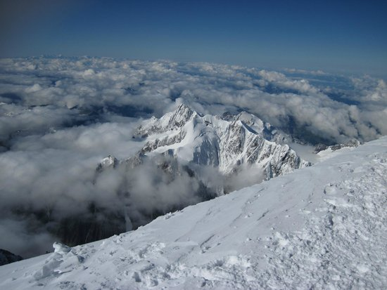 Mont Blanc : View from the peak