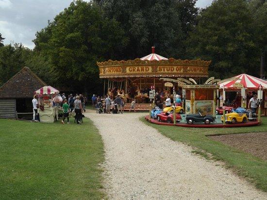 Weald & Downland Open Air Museum: Fairground part of Steam show