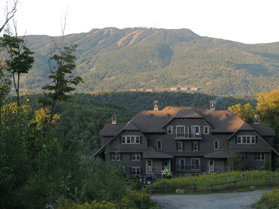 Cap Tremblant Mountain Resort: View of condo and mountain from Cap Tremblant