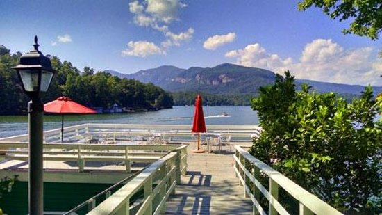 The Lodge on Lake Lure: Favorite spot for reading, relaxing