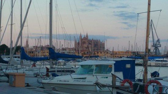 Darsena: Vista da mesa do restaurante para a Catedral