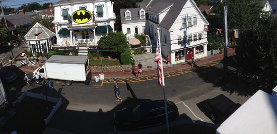 Anchor Inn: View from tower room balcony (small panorama)