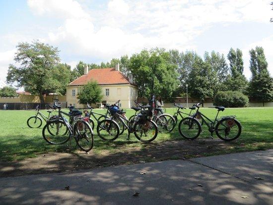 Praha Bike -  Bicycle Tours & Rentals : Our bikes - it was break time!