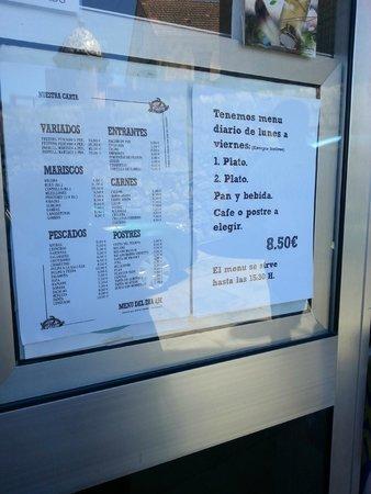 Restaurante Baiña : Carta y precio menú