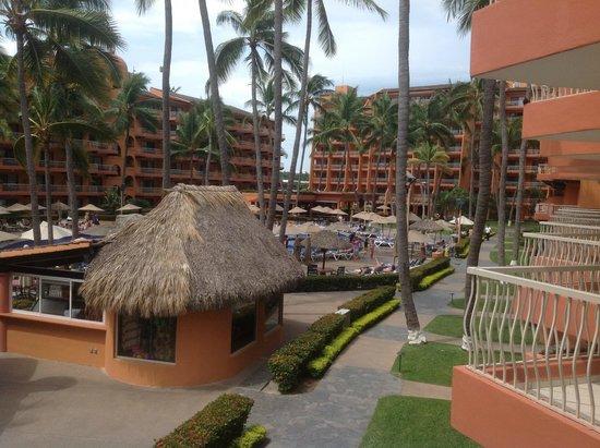 Villa del Palmar Beach Resort & Spa: The view from my balcony looking towards the main building