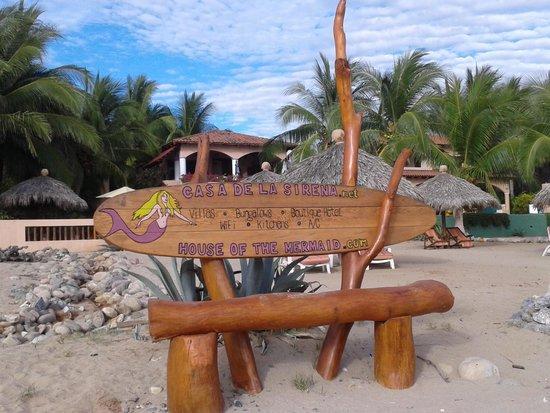 Casa de La Sirena: picture from the beach