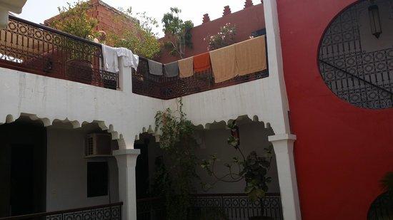 Riad Fabiola: belle vue dans le riad qund on arrive