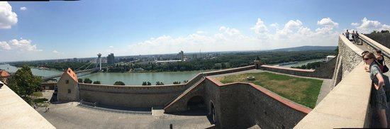 Bratislava Castle: The view from the castle walls