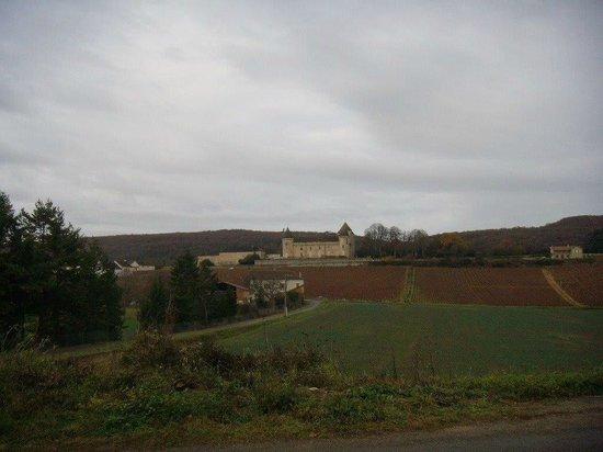 Chateau de Rully : Au loin, le chateau