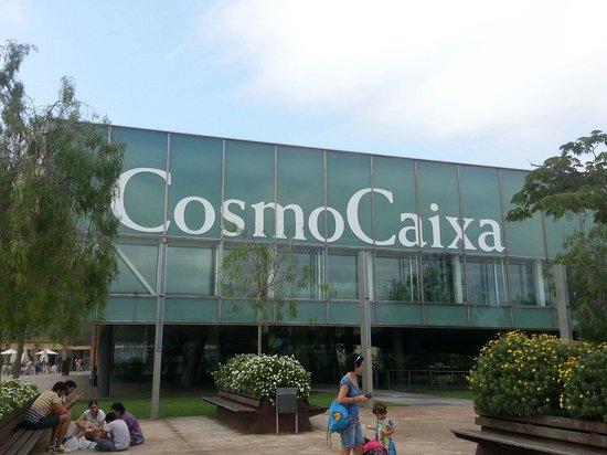 View west from the Cosmocaixa outdoor plaza - Picture of CosmoCaixa ...