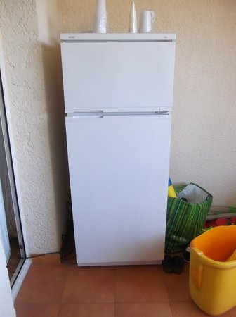 Bravone, Francia: frigo de remplacement (appartient au personnel) car l'autre hs.....