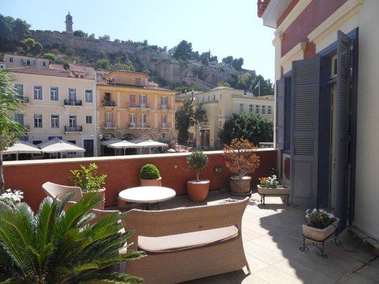 Xenon Inn: Terrassenaussicht