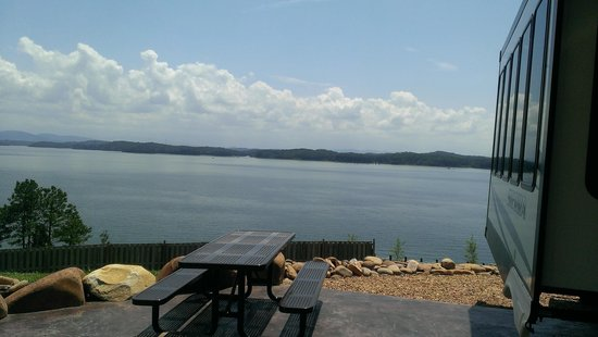 Anchor Down RV Resort: view from site 55