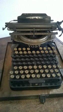 Museu do Diamante: Máquina de escrever de 1878