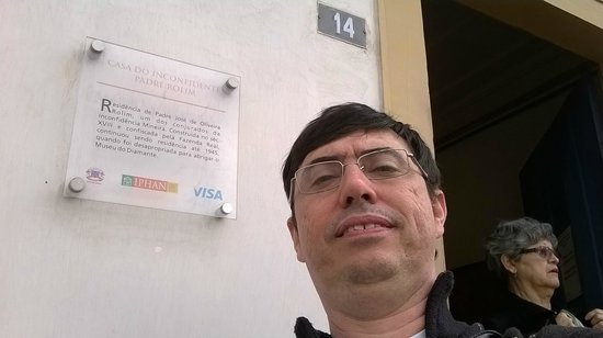 Museu do Diamante: Na frente do Museu.