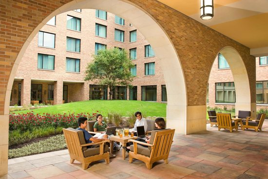 AT&T Executive Education and Conference Center: Our courtyard is a great place to relax.