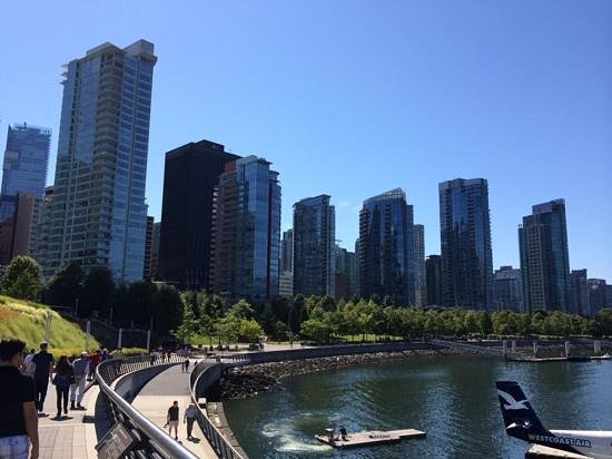 Seawall in Vancouver: Sunny Sunday on Vancouver seawall