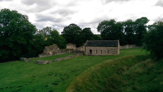 Pickering Castle : A view of the restored chapel
