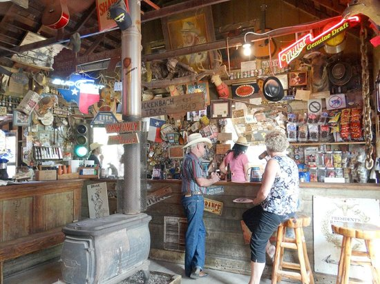 Luckenbach Texas General Store: the saloon