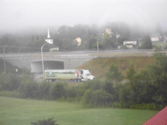 BEST WESTERN White Mountain Inn: view from room 214, tractor trailer truck on interstate on-ramp