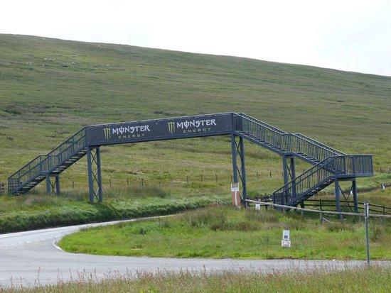 Manx Electric Railway: Bike track on Snaefell