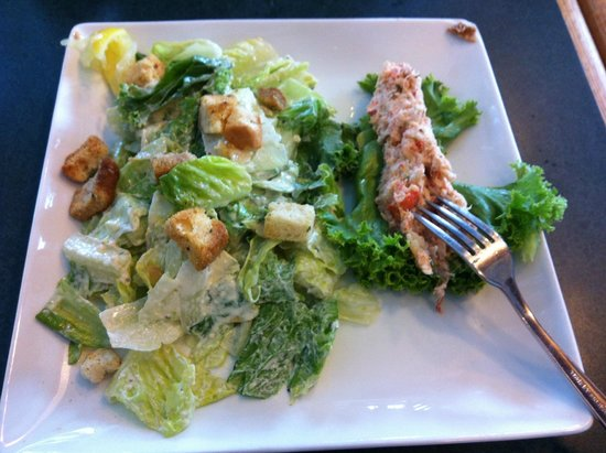 Bay Street Cafe: Caesar Salad with Lobster salad mix