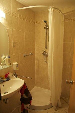 Golden Park Hotel: Shower bath with carpet around...
