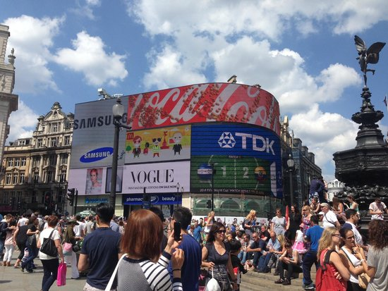 The main square at Piccadilly Circus