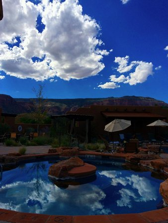 View from the pool - beautiful Colorado sky