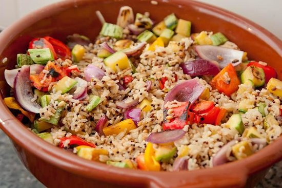 Cacerola: Arroz 7 grãos do buffet vegetariano