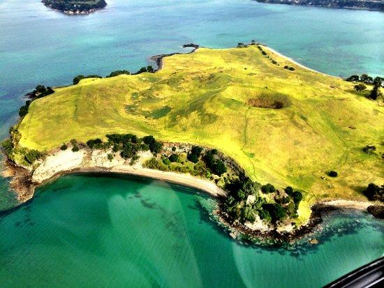 Heletranz Helicopters: Vocano by Waiheke Island