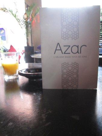 Azar : the menu