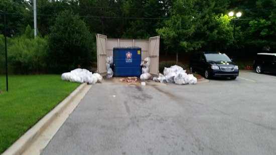 Residence Inn Columbia Northeast: Their dumpster last Saturday (Aug 16)