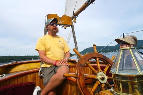 Schooner Olad Windjammer Cruise: The Captain. Great guy, great storyteller, great host.