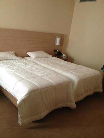 Le Rocher Hotel: The beds in our double room