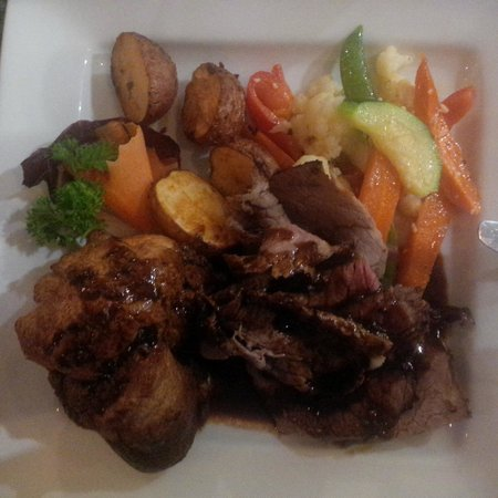 The Moose Cafe : Their Special of the Day - roast beef with Yorkshire pudding, potatoes and veggies
