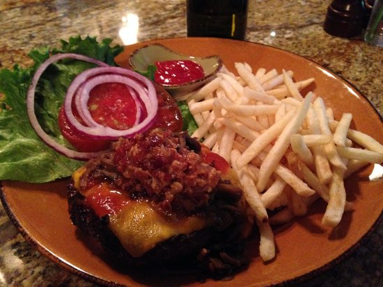 Gold Cup Wine Bar: Burger with Bacon Jam!
