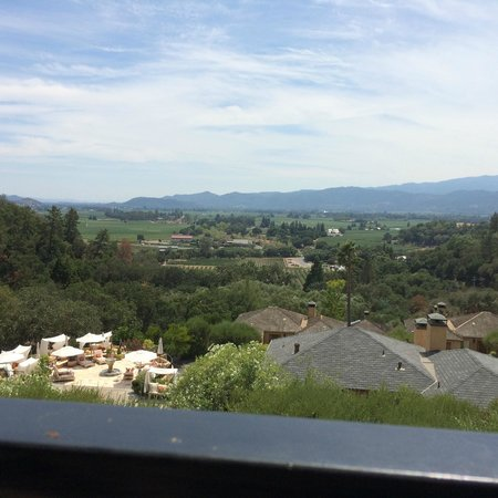 Auberge du Soleil Restaurant : View from a balcony table