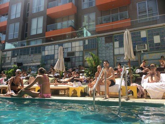 McCarren Hotel & Pool: Pool Bleachers